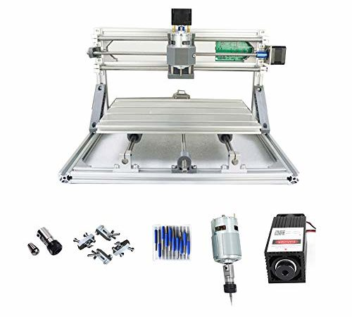 Purewords Mini Diy CNC3018 +500 mw Laser GRBL control, 3Axis pcb pvb Milling machine, Wood Router Engraver CNC 3018 | Desktop CNC Routers